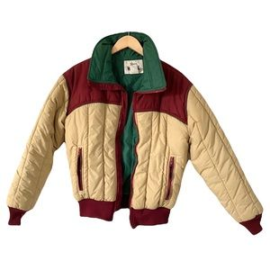 Vintage Woolrich Puffer Coat 70's Ski Jacket Retro